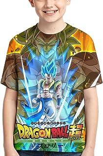 Dragon Ball Z Super3 Youth T Shirts3d Print Fashion Short Sleeve Tee Tops Boys Girls