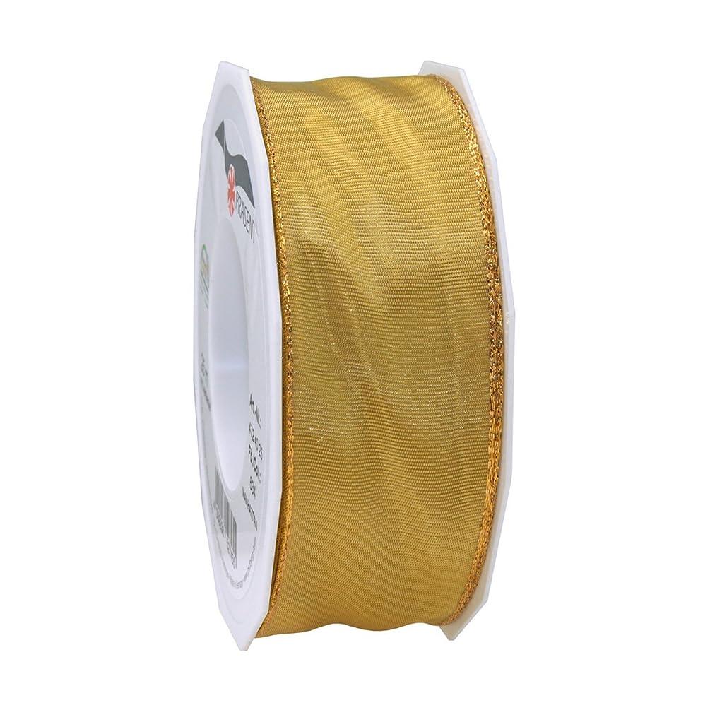Morex Ribbon 47240/25-634 Metallic Manhattan Ribbon, 1-1/2-Inch by 27-Yard, Gold