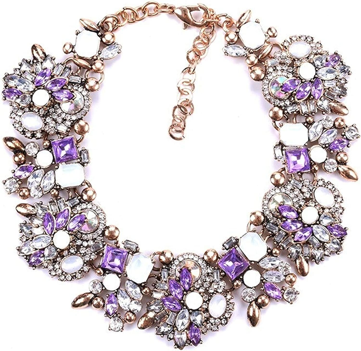 xiaofeng214 Leather Chain Enamel Gem Jewelry Sets for Party Bridal Jewelry Sets Summer Jewelry