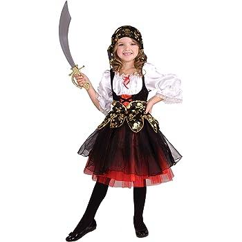 Disfraz de Pirata de Piezas para niñas - Disfraz de Pirata - Black ...