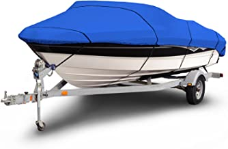 Budge 1200 Denier Boat Cover fits Center Console Flat Front//Skiff//Deck Boats B-1241-X6 20 to 22 Long, Gray