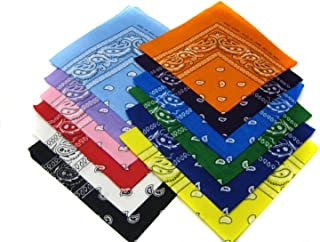 12 Color Pack Double Sided Print Paisley Bandana Scarf