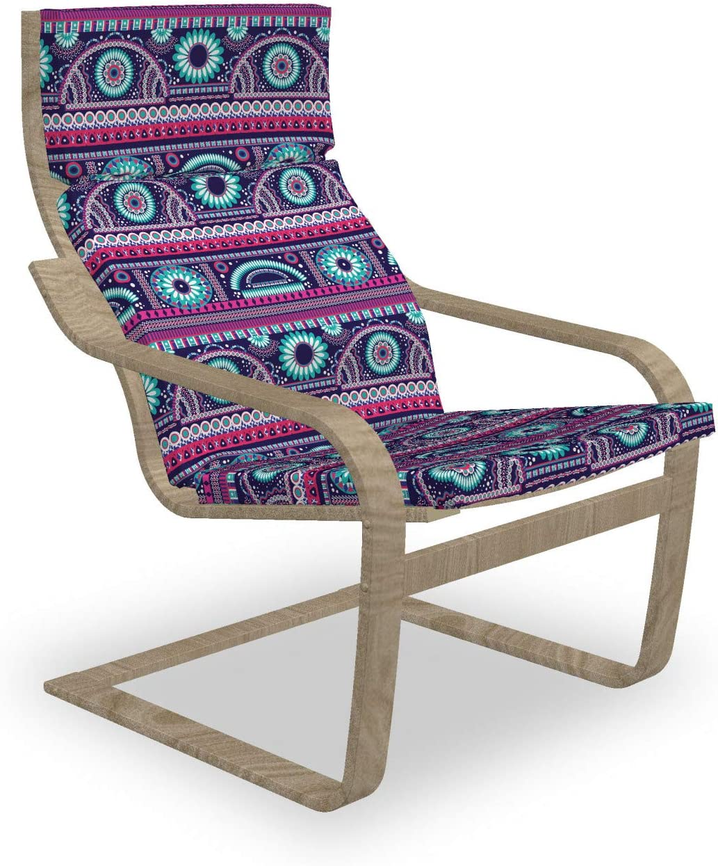 Ambesonne Ikat Recommendation Armchair Outlet SALE Pad and Tribal Slipcover Ornamen Ethnic
