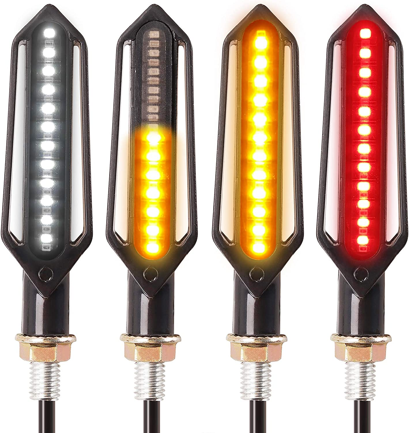 Kinstecks 4PCS Gorgeous Motorcycle Indicators New Orleans Mall Lights Signal Flowing Turn