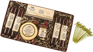 Hickory Farms Hardwood Smoked Holiday Collection 30.15 oz Summer Sausage Smoked Gauda Blend Sweet Hot Mustard Crackers Strawberry Bon Bons with Exclusive Bamboo Toothpicks