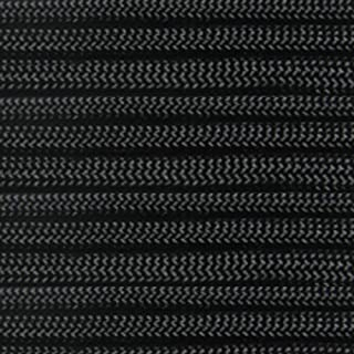 PARACORD PLANET 550 LB Tested Paracord Available in 25,50, and 100 Foot Lengths of USA Made Rope (Black, 100 Feet)