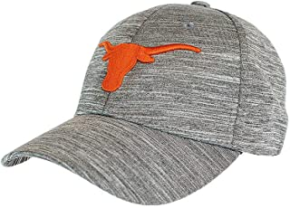 Elite Fan Shop Texas Longhorns Fitted Hat Space Dyed Charcoal