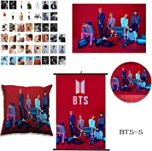 Youyouchard BTS Bangtan Boys [Love Yourself:Answer] BTS Accessories, BTS Poster+BTS Photocard Set+BTS Badge Brooch+BTS Pillow Cover, Best Gife for BTS Army(BTS Version S)