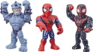 Super Hero Adventures Playskool Heroes Mega Mighties Marvel Web Warriors 3 Pack, Spider-Man, Kid Arachnid, Marvel's Rhino,...