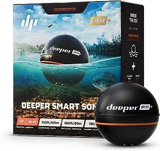 Deeper Pro+ - Buscador de peces (sonar portátil con GPS, sin cables, Wi-Fi) color negro