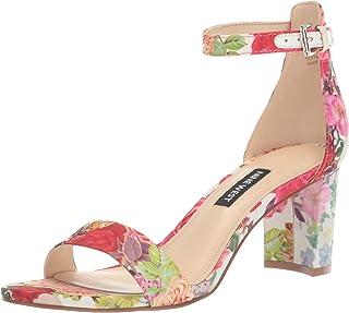 Nine West Women's wnPRUCE2 Heeled Sandal, WHITE MULTI, 10