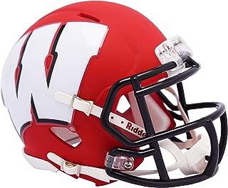 Riddell Wisconsin Badgers AMP Alternate Revolution Speed Mini Football Helmet - College Mini Helmets