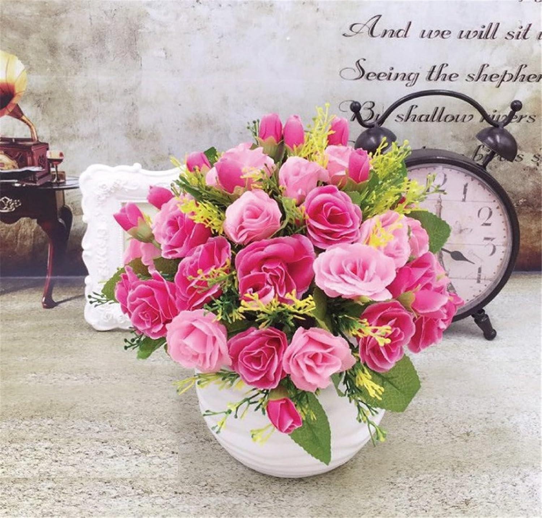 NOHOPE Emulation Flower Decoration Floral Ornaments Artificial Flowers Emulation pink Lounge Ornaments Home Decor Vases Mother's Day Gift