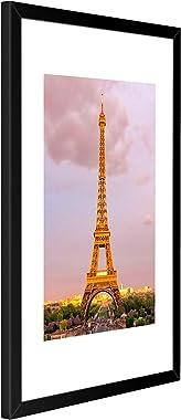 upsimples - Juego de 3 marcos de fotos de 11 x 14, hechos de cristal de alta definición para 8 x 10 con paspartú o 11 x 14 si
