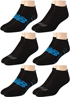 Men's Athletic Arch Compression Cushioned Low Cut Solid Socks (6 Pack)