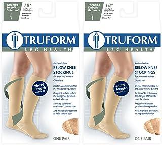 fbd60c14ee Truform 8808 Anti-Embolism Stockings, Knee High, Short Length, Closed Toe: