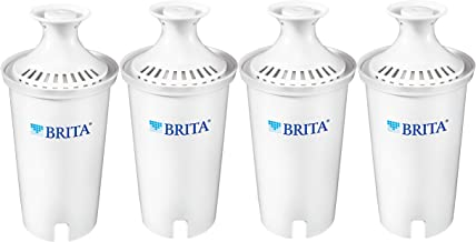 Brita Standard Replacement Filters for Pitchers and Dispensers, 4ct, White