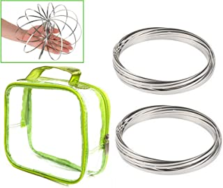 2pc Flow Slinky Arm Ring Kinetic Spiral Educational Toy Dance Prop Fun Sensory Interactive & Stress Anxiety Relieving (2pc...