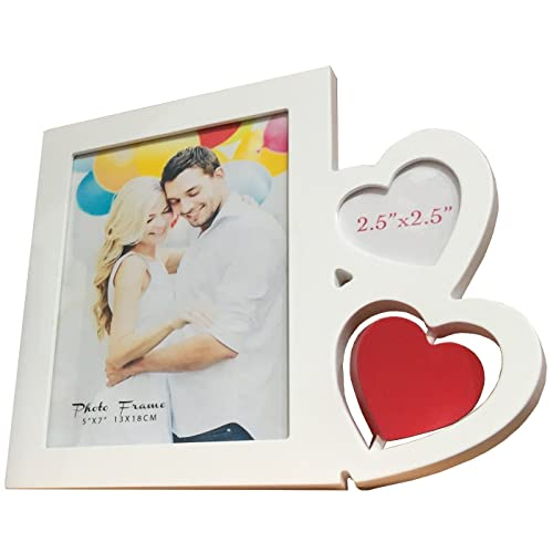 Vintage Shabby Chic Love Heart Wooden Photo Frame Hanging Heart Love Gift