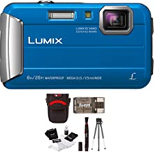 Panasonic DMC-TS30A LUMIX Active Lifestyle Tough Camera (Blue) + Swiss Gear Case