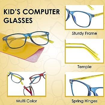 Kids Blue Light Blocking Glasses   Anti Eyestrain Kids Computer Glasses - Video Gaming, Smartphone Screen Eyeglasses ...