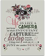 Life is Like a Camera - 11x14 Unframed Typography Art Print - Great Inspirational Gift Under $15