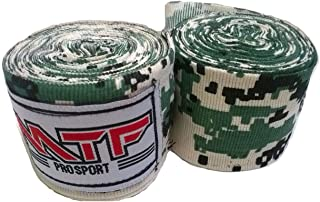 MTF Hand Wraps Muay Thai Boxing MMA K1 Fitness Gear Color Army Camo Green Size 180 inches Handwraps for Kickboxing Sport