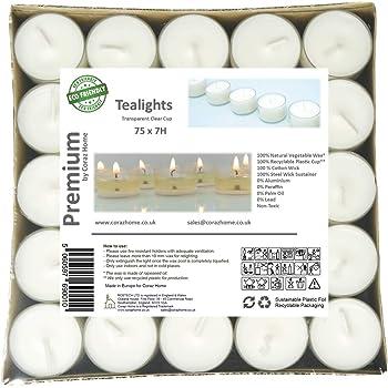 Pritogo Lot de 50 Bougies Chauffe-Plat en Plastique Blanc /Ø 3,8 x 2,5 cm sans suie Dur/ée de Combustion 9 Heures