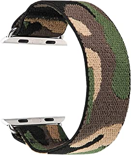 Elastic Band Compatible for Apple Watch, Scrunchie Stretch Wristbands Replacement Bracelet Loop Sport Strap for iWatch Ser...