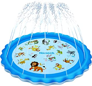 Homech Sprinkler for Kids, Splash Pad, Outdoor Inflatable Sprinkler Water Toys, Wading..