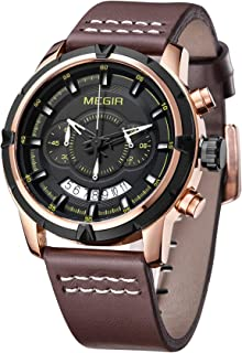 Megir Fan Sport Watch For Men Analog Leather - M2047