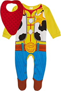 Disney Sheriff Woody Babygrow Toy Story 4 Baby Sleepsuit and Bandana Bib Gift Set