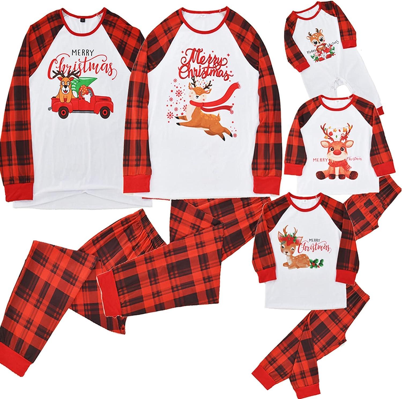 Family 70% OFF Outlet Matching Christmas Pajamas 2021 model Set Reindeer Sleepwear Soft Ou