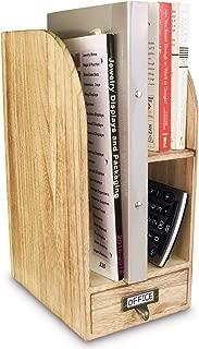 Ikee Design Adjustable Wooden Desk Organizer for Desktop Accessories & Office Supplies
