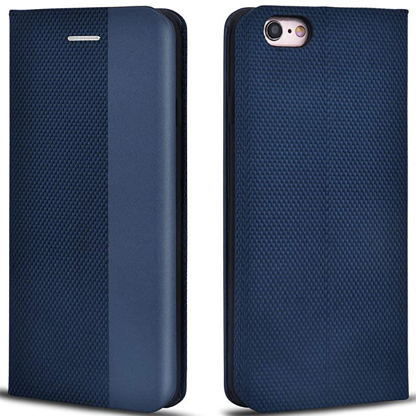 Aicoco Folio Case for iPhone 6, Premium Leather Flip Phone Protective Case Cover for Apple iPhone 6 and iPhone 6S (Blue)