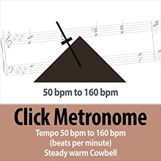 80 bpm (beats per minute) Click Metronome - Steady Tempo Warm Cowbell