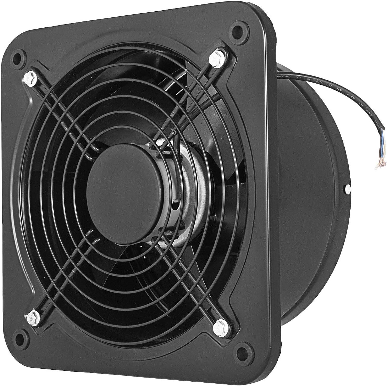 VEV Extractor de Aire, 250 mm Extractor de Baño de Metal Completo, 2.580 RPM Extracción de Aire con Volumen de Aire 1.680 m³ / h, Ventilador de Escape Ruido 60 dBA para Cocina Baño