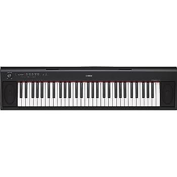 Yamaha Keyboard Piaggero NP-12B, schwarz – Leichtes und transportfreundliches Keyboard – Mit Aufnahmefunktion, Kopfhörer- und Sustain-Pedal Anschluss
