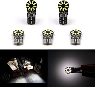 5 Pcs White T10 Wedge Led bulbs for 158 161 175 2821 2825 2827 147 152 912 921 1250 2886X PC168 PC175 W10W 3014 SMD 12V License Plate Dome Map Trunk Interior Tail Light Lamp Bulbs