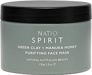 Natio Spirit Green Clay + Manuka Honey Purifying Face Mask, 150 g