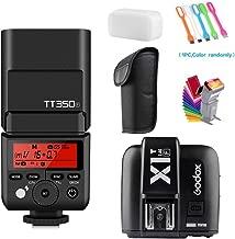 Godox TT350F TTL GN36 2.4G High-Speed Sync 1/8000s Camera Master/Slave Flash Speedlite Light with Godox X1T-F Wireless Trigger Transmitter for Fuji Mirrorless Digital Camera(TTL autoflash)