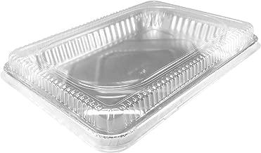 KitchenDance Disposable Aluminum 13 x 9 x 2 Cake pans with Lids- Pack of 12 pans & 12 Lids