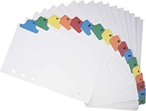A-Z Contact Index Address Tabs for 6 Ring Binder 3 3/4 x 6 3/4 Inches by HNR