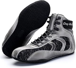 HwwPrime Men's High-Top Boxing Shoes, Gray,Gray,44 EU