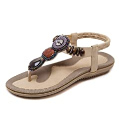 b2544f6f04f4 New-Loft Bohemia Style Summer Shoes PU Fashion String Bead Sa .