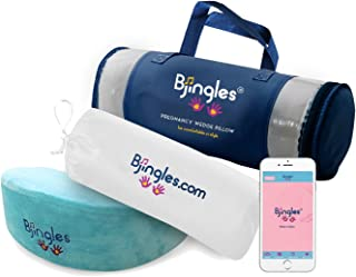 Pregnancy Wedge Pillow-1st, 2nd & 3rd Trimesters/Mom & Maternity/Mom to be Gift/Portable/Support Body, Belly, Back & Knees/Adapts to All Women Sizes