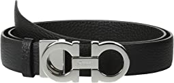 Salvatore Ferragamo - 237601 Double Gancini Wide Belt