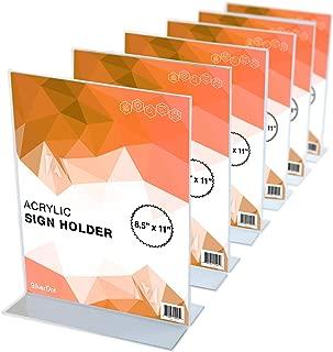 SilverDot Acrylic Sign Holder - 8.5