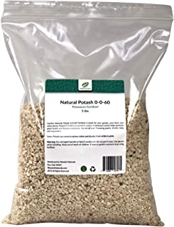 Natural Potash 0-0-60 Fertilizer 15 Pounds (Garden Naturals Brand)