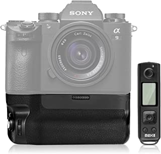 Meike 新MK A9 Pro Sony A7III A9 A7RIII 用縦位置グリップ バッテリーグリップ ブラック縦位置撮影互換 Sony A7III A7RIII A9 用内蔵2.4Gワイヤレス リモコン付き
